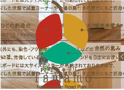 内町ギャラリー Tamamo Nankin-haze Road Park ロゴマーク